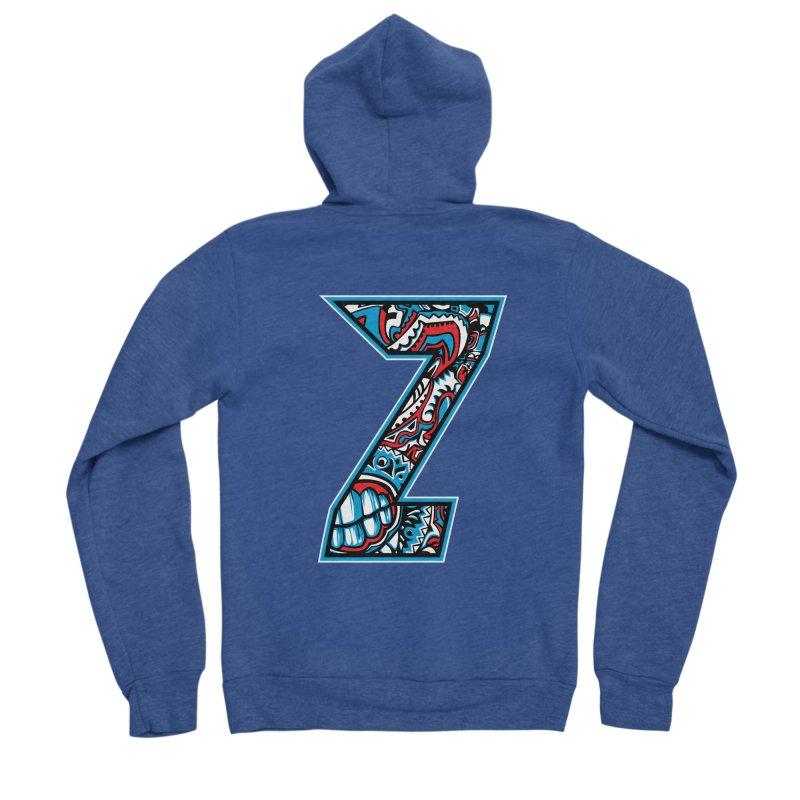 Crazy Face_Z001 Men's Sponge Fleece Zip-Up Hoody by Art of Yaky Artist Shop