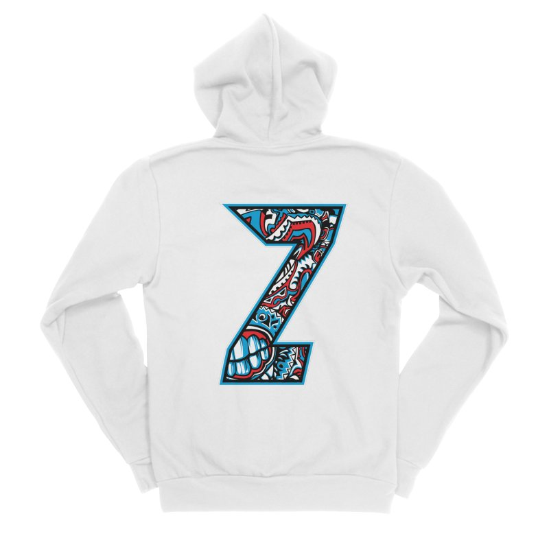 Crazy Face_Z001 Women's Sponge Fleece Zip-Up Hoody by Art of Yaky Artist Shop