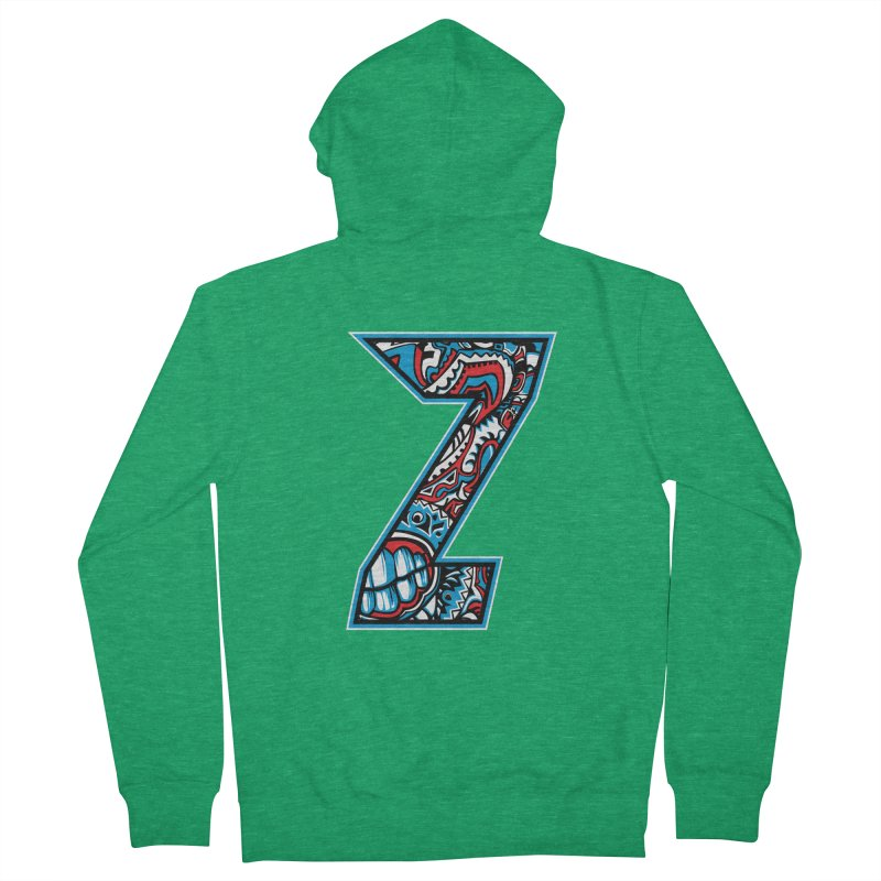 Crazy Face_Z001 Men's Zip-Up Hoody by Art of Yaky Artist Shop