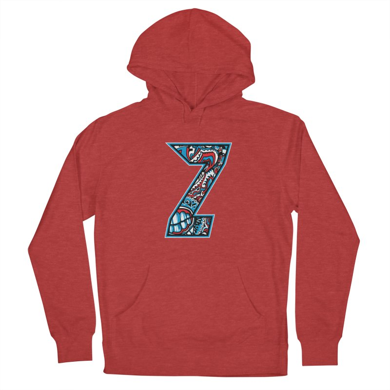 Crazy Face_Z001 Women's French Terry Pullover Hoody by Art of Yaky Artist Shop