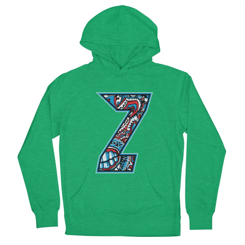 Crazy Face_Z001 Men's French Terry Pullover Hoody by Art of Yaky Artist Shop