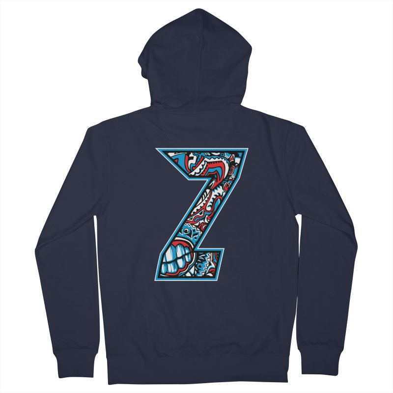 Crazy Face_Z001 Women's French Terry Zip-Up Hoody by Art of Yaky Artist Shop
