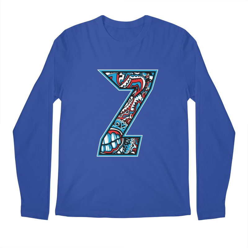 Crazy Face_Z001 Men's Regular Longsleeve T-Shirt by Art of Yaky Artist Shop