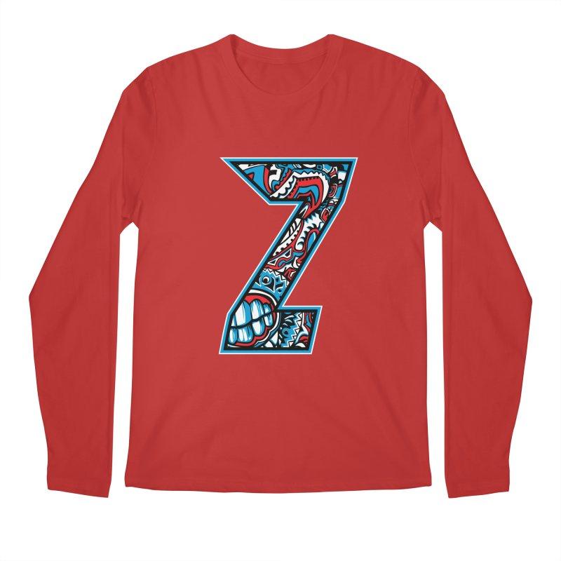 Crazy Face_Z001 Men's Regular Longsleeve T-Shirt by Art of Yaky Artist Shop