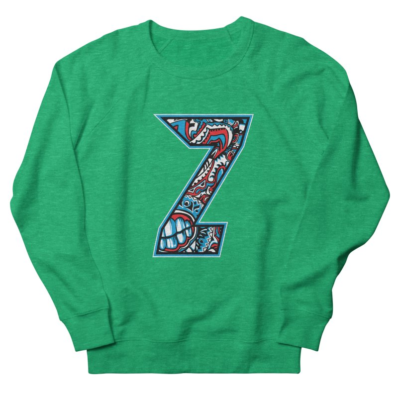 Crazy Face Alphabet (Z) Women's Sweatshirt by Yaky's Customs