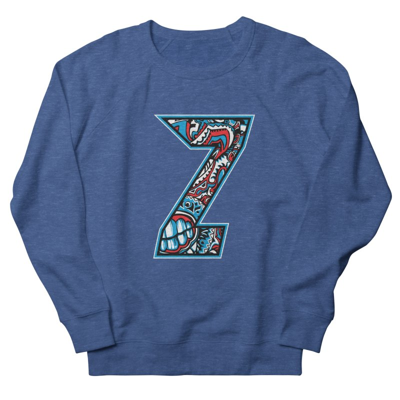 Crazy Face Alphabet (Z) Men's Sweatshirt by Art of Yaky Artist Shop