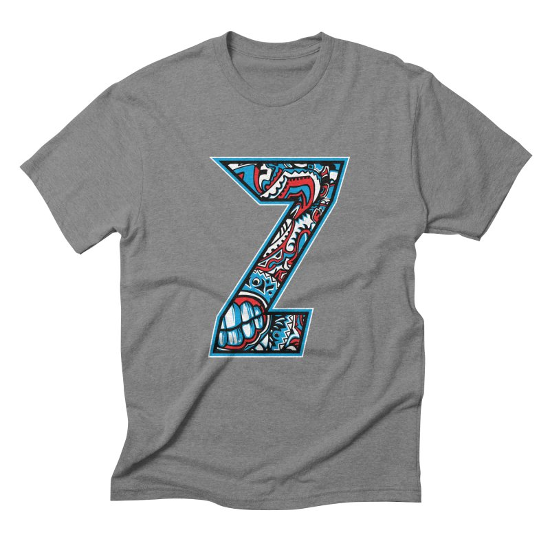 Crazy Face_Z001 Men's Triblend T-Shirt by Art of Yaky Artist Shop
