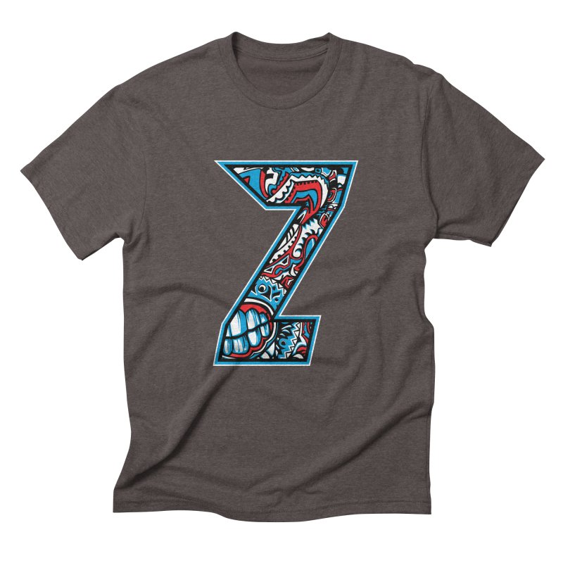 Crazy Face_Z001 Men's Triblend T-Shirt by Art of Yaky Artist Shop