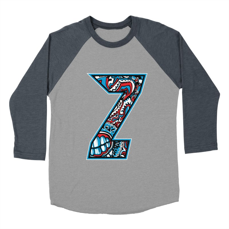 Crazy Face_Z001 Women's Baseball Triblend Longsleeve T-Shirt by Art of Yaky Artist Shop