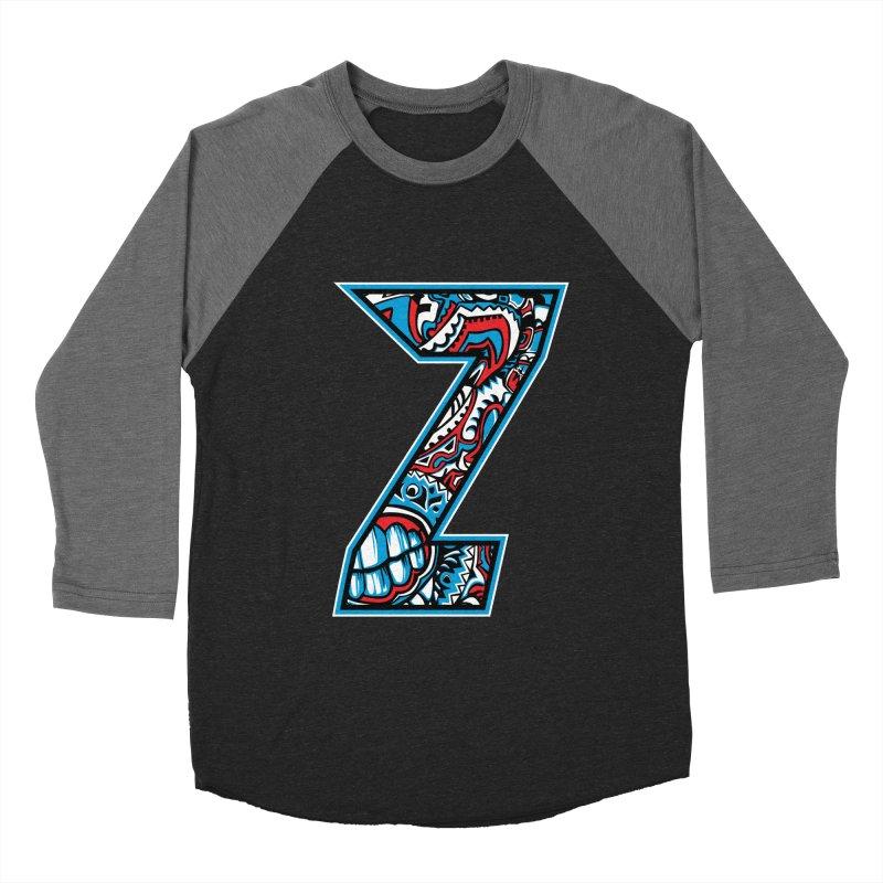 Crazy Face_Z001 Men's Baseball Triblend Longsleeve T-Shirt by Art of Yaky Artist Shop