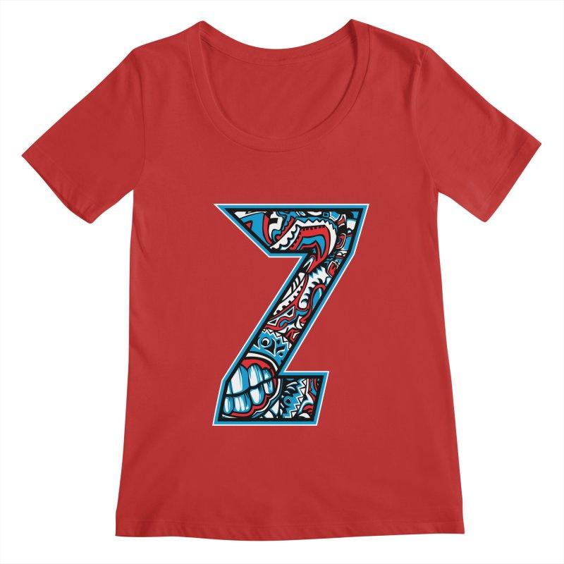 Crazy Face_Z001 Women's Regular Scoop Neck by Art of Yaky Artist Shop