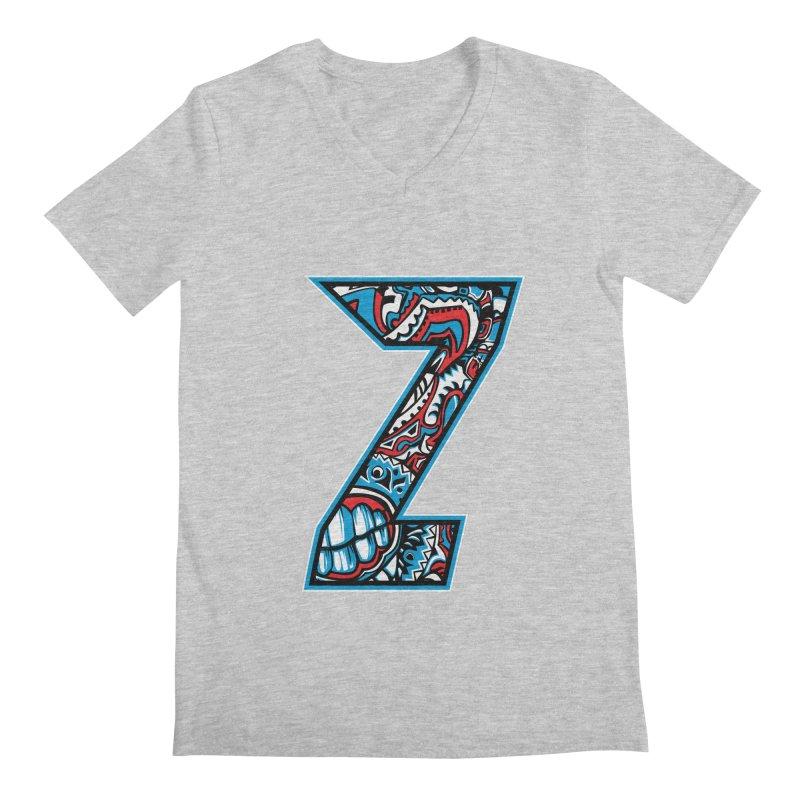 Crazy Face_Z001 Men's Regular V-Neck by Art of Yaky Artist Shop