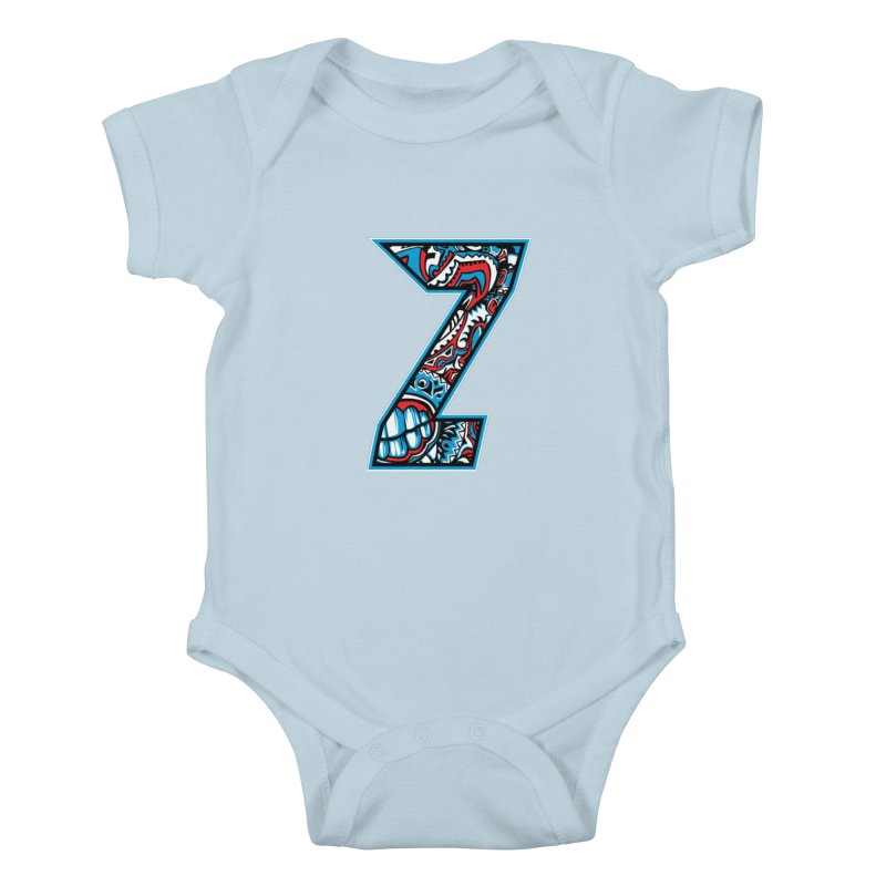 Crazy Face_Z001 Kids Baby Bodysuit by Art of Yaky Artist Shop