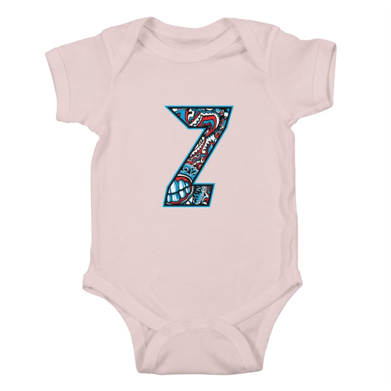Crazy Face_Z001 Kids Baby Bodysuit by Art of Yaky Artist Shop
