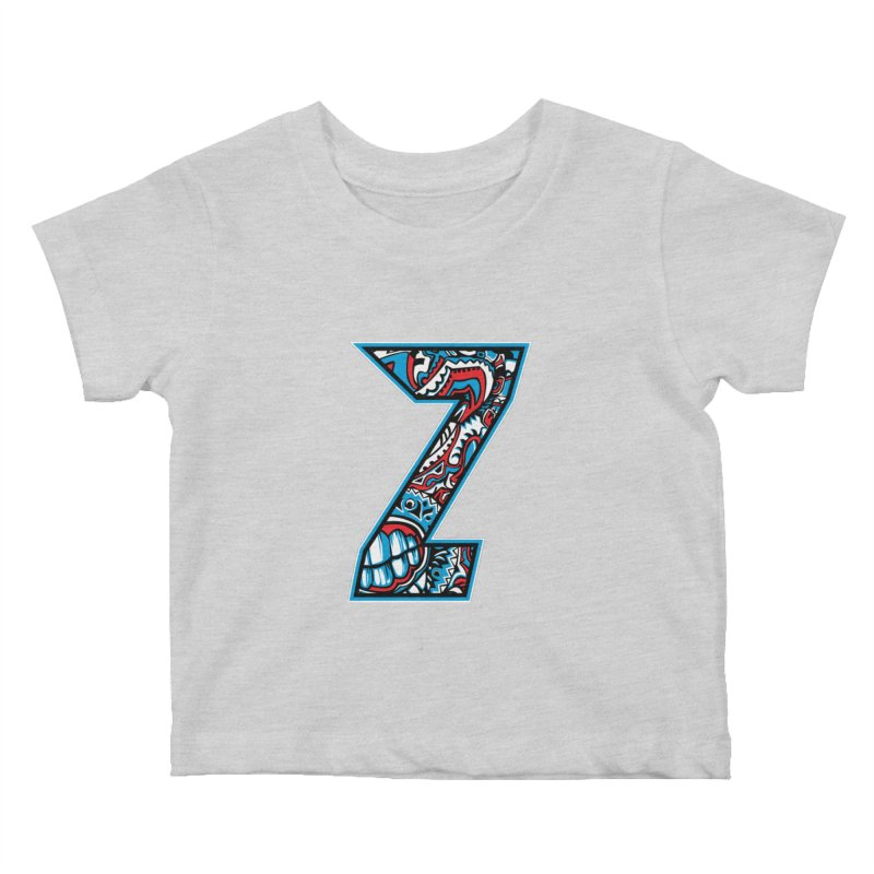 Crazy Face_Z001 Kids Baby T-Shirt by Art of Yaky Artist Shop