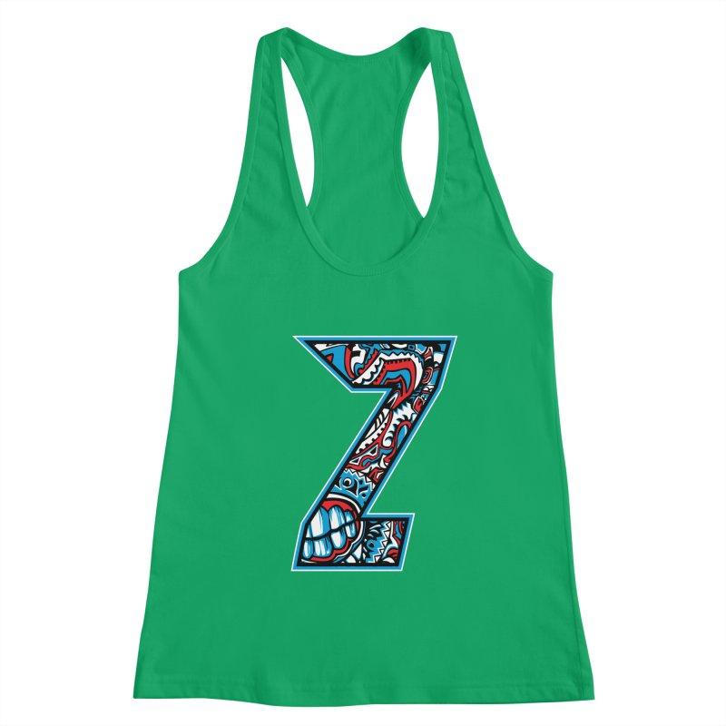 Crazy Face Alphabet (Z) Women's Tank by Yaky's Customs