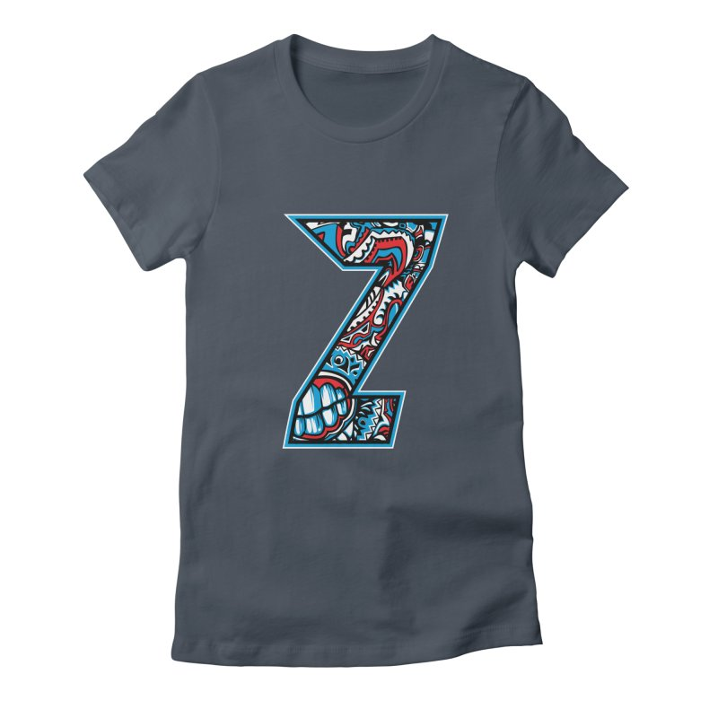 Crazy Face Alphabet (Z) Women's T-Shirt by Yaky's Customs