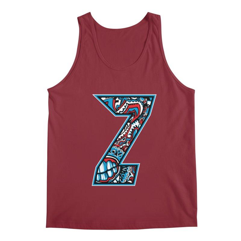 Crazy Face Alphabet (Z) Men's Tank by Art of Yaky Artist Shop