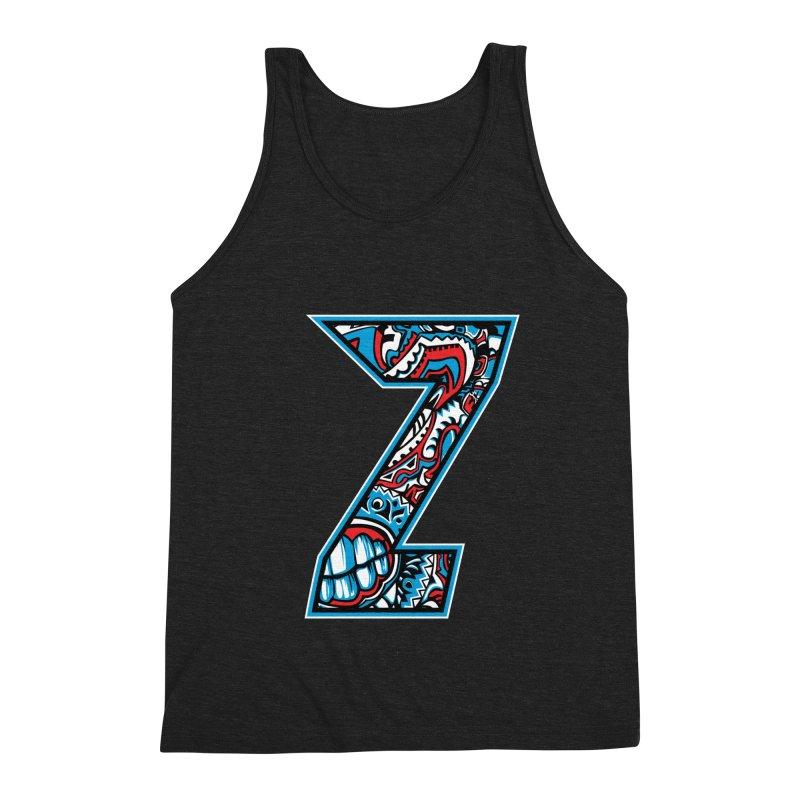 Crazy Face_Z001 Men's Triblend Tank by Art of Yaky Artist Shop