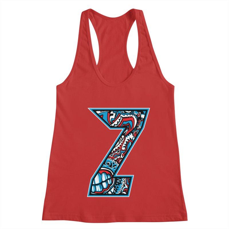 Crazy Face_Z001 Women's Racerback Tank by Art of Yaky Artist Shop