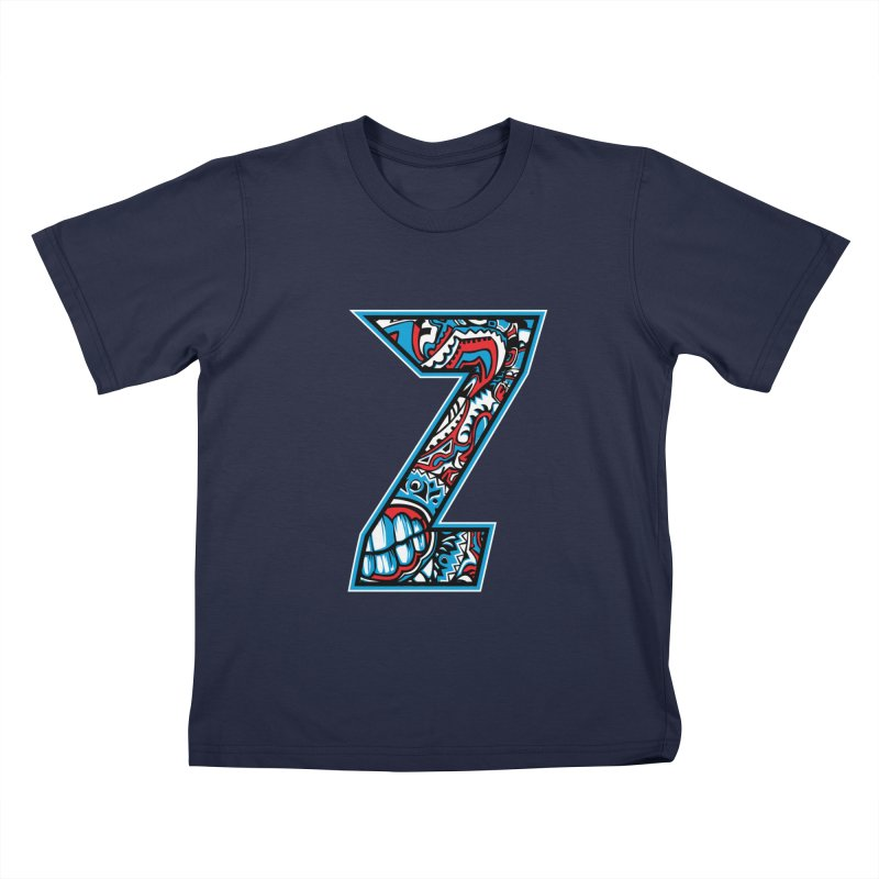 Crazy Face_Z001 Kids T-Shirt by Art of Yaky Artist Shop