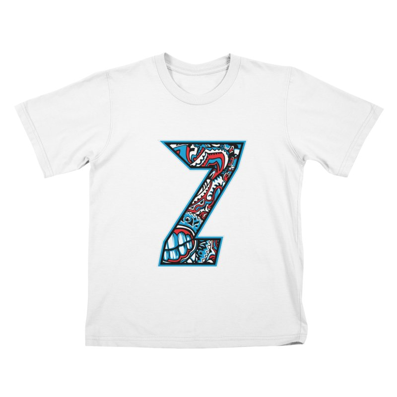 Crazy Face_Z001 Kids T-Shirt by Art of Yaky Artist Shop