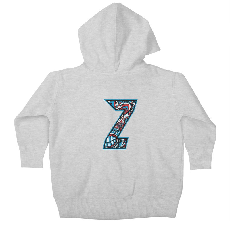 Crazy Face_Z001 Kids Baby Zip-Up Hoody by Art of Yaky Artist Shop