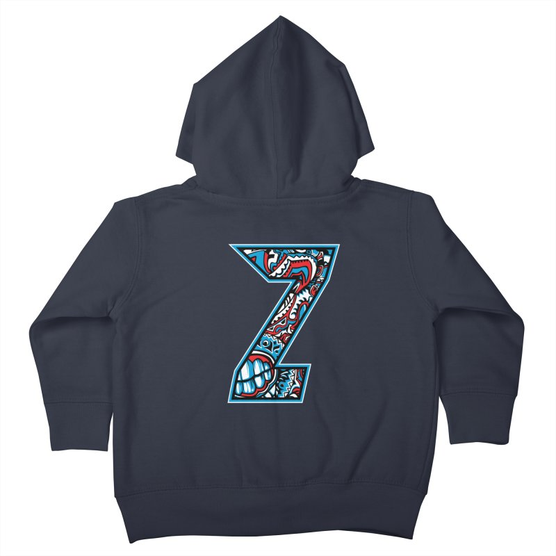 Crazy Face_Z001 Kids Toddler Zip-Up Hoody by Art of Yaky Artist Shop