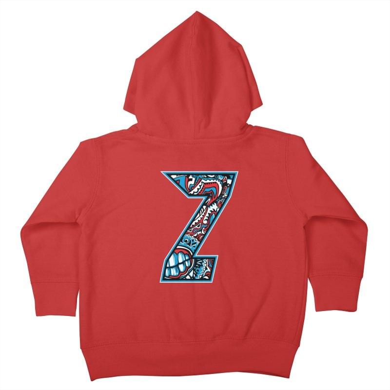 Crazy Face Alphabet (Z) Kids Toddler Zip-Up Hoody by Yaky's Customs