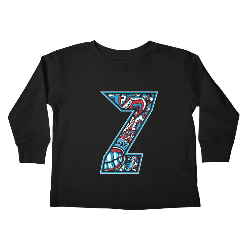 Crazy Face_Z001 Kids Toddler Longsleeve T-Shirt by Art of Yaky Artist Shop