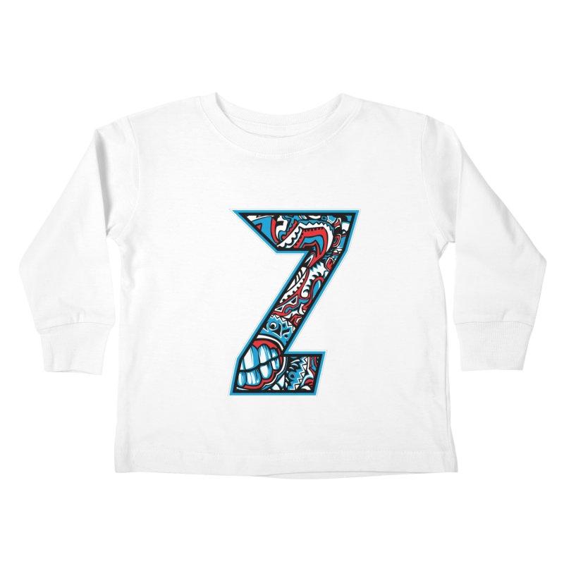 Crazy Face_Z001 Kids Toddler Longsleeve T-Shirt by Art of Yaky Artist Shop
