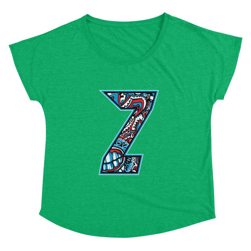 Crazy Face_Z001 Women's Dolman Scoop Neck by Art of Yaky Artist Shop