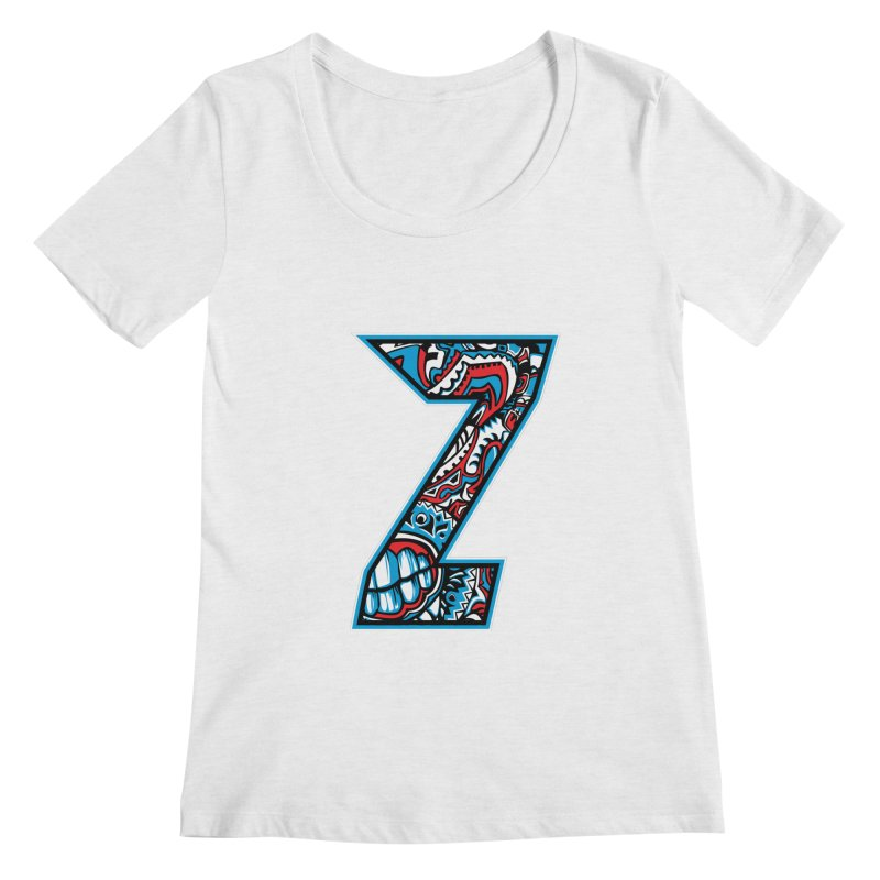 Crazy Face_Z001 Women's Regular Scoop Neck by Art of Yaky Artist Shop