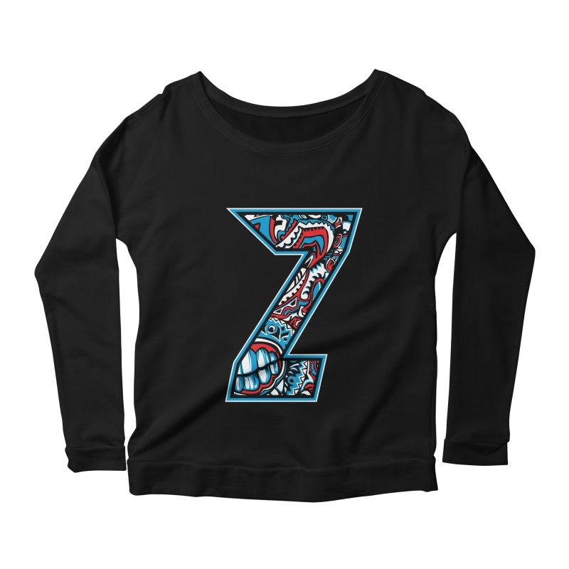 Crazy Face_Z001 Women's Scoop Neck Longsleeve T-Shirt by Art of Yaky Artist Shop