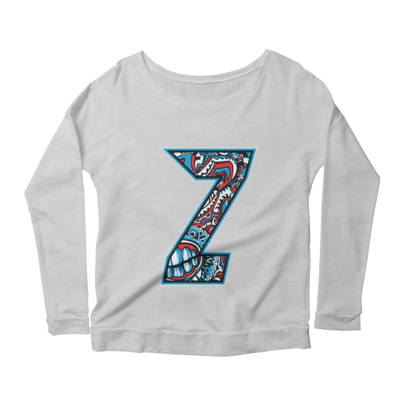 Crazy Face_Z001 Women's Scoop Neck Longsleeve T-Shirt by Art of Yaky Artist Shop