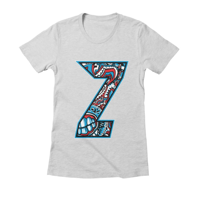Crazy Face_Z001 Women's Fitted T-Shirt by Art of Yaky Artist Shop