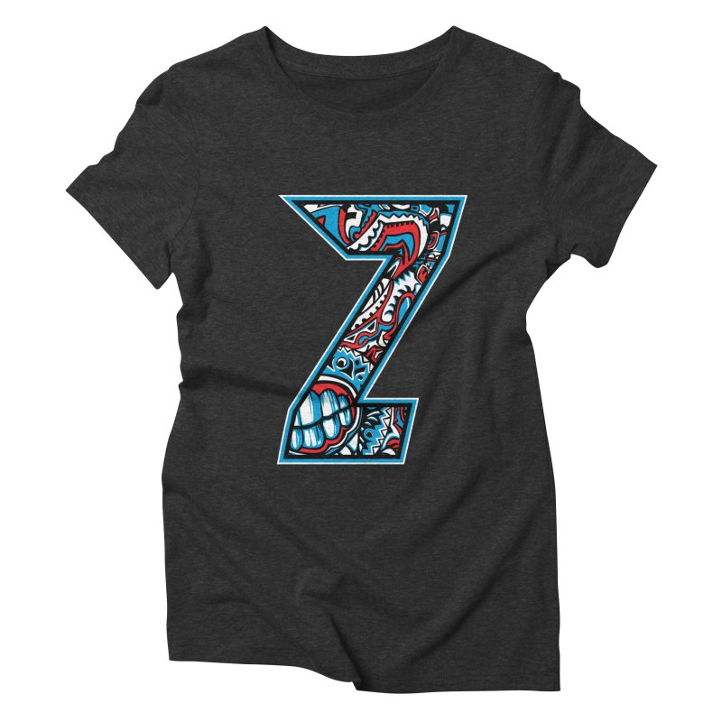 Crazy Face_Z001 Women's Triblend T-Shirt by Art of Yaky Artist Shop