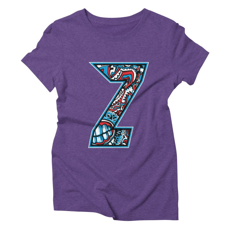 Crazy Face_Z001 Women's Triblend T-Shirt by Art of Yaky Artist Shop
