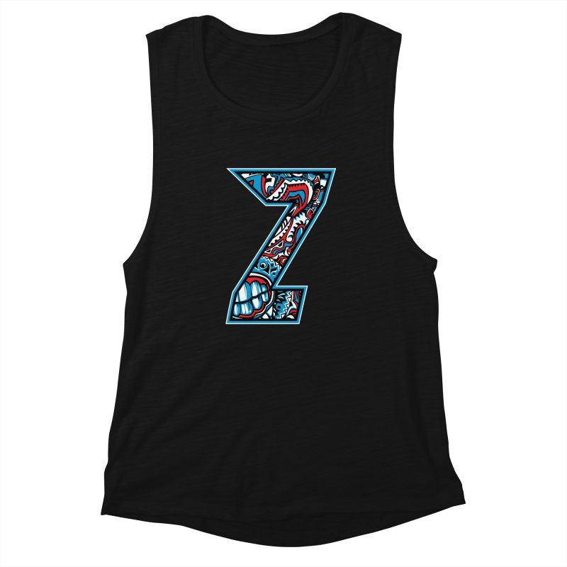 Crazy Face_Z001 Women's Muscle Tank by Art of Yaky Artist Shop