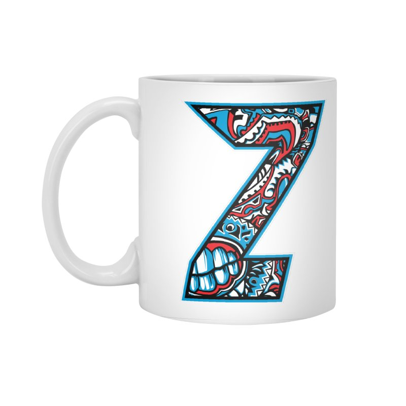 Crazy Face_Z001 Accessories Standard Mug by Art of Yaky Artist Shop