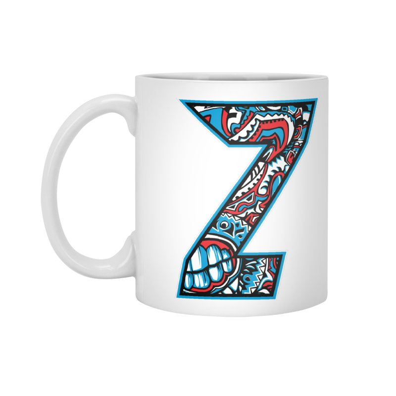 Crazy Face_Z001 Accessories Mug by Art of Yaky Artist Shop