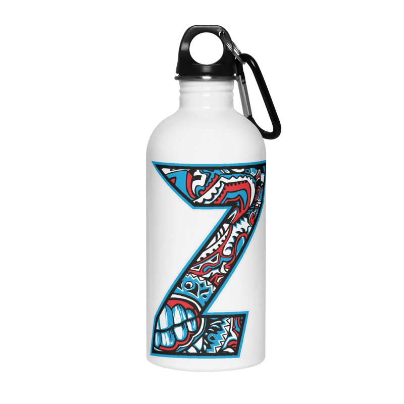 Crazy Face_Z001 Accessories Water Bottle by Art of Yaky Artist Shop