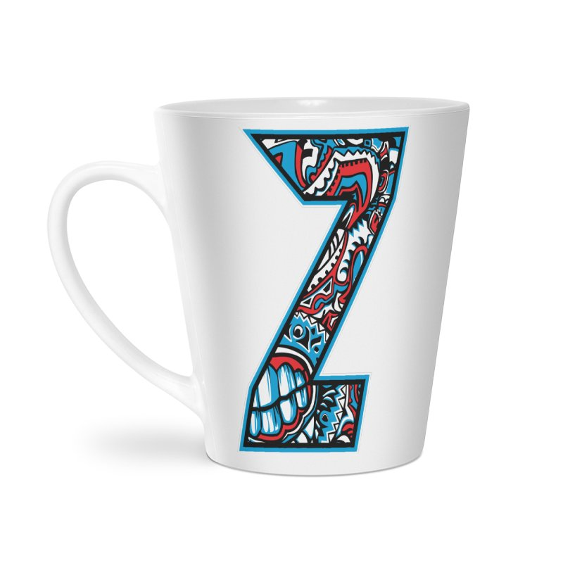 Crazy Face_Z001 Accessories Latte Mug by Art of Yaky Artist Shop