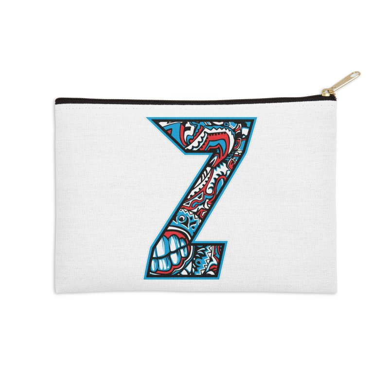 Crazy Face_Z001 Accessories Zip Pouch by Art of Yaky Artist Shop