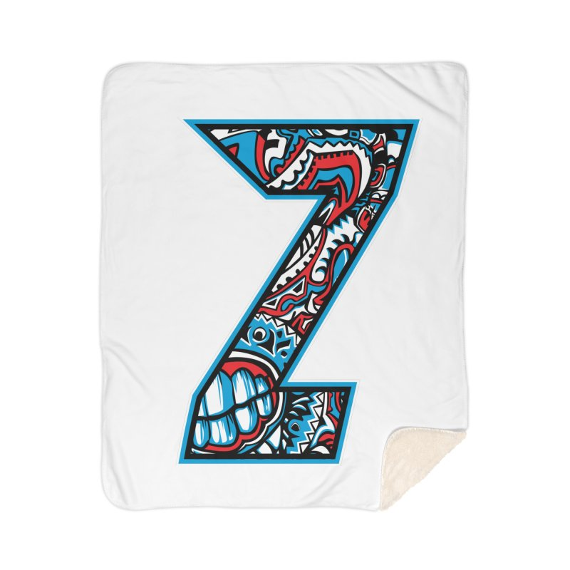 Crazy Face Alphabet (Z) Home Blanket by Yaky's Customs