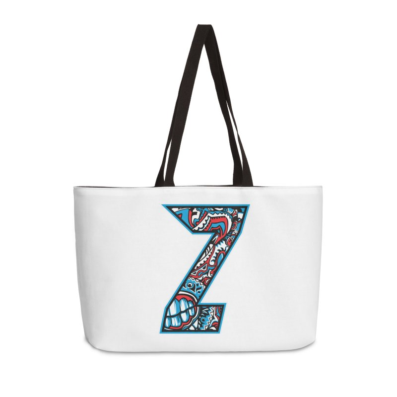 Crazy Face_Z001 Accessories Weekender Bag Bag by Art of Yaky Artist Shop