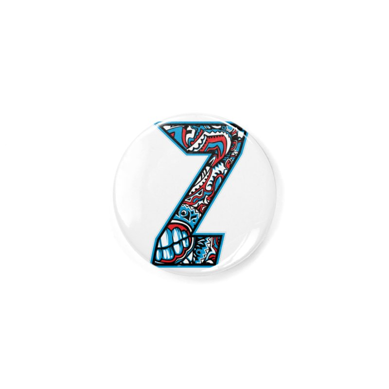Crazy Face Alphabet (Z) Accessories Button by Yaky's Customs