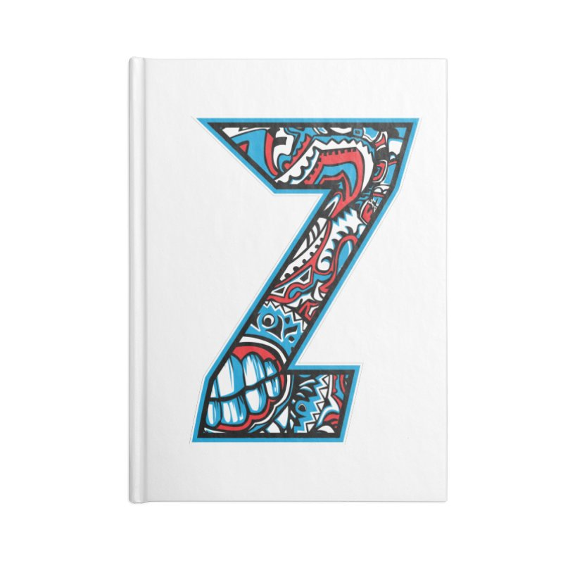 Crazy Face_Z001 Accessories Lined Journal Notebook by Art of Yaky Artist Shop