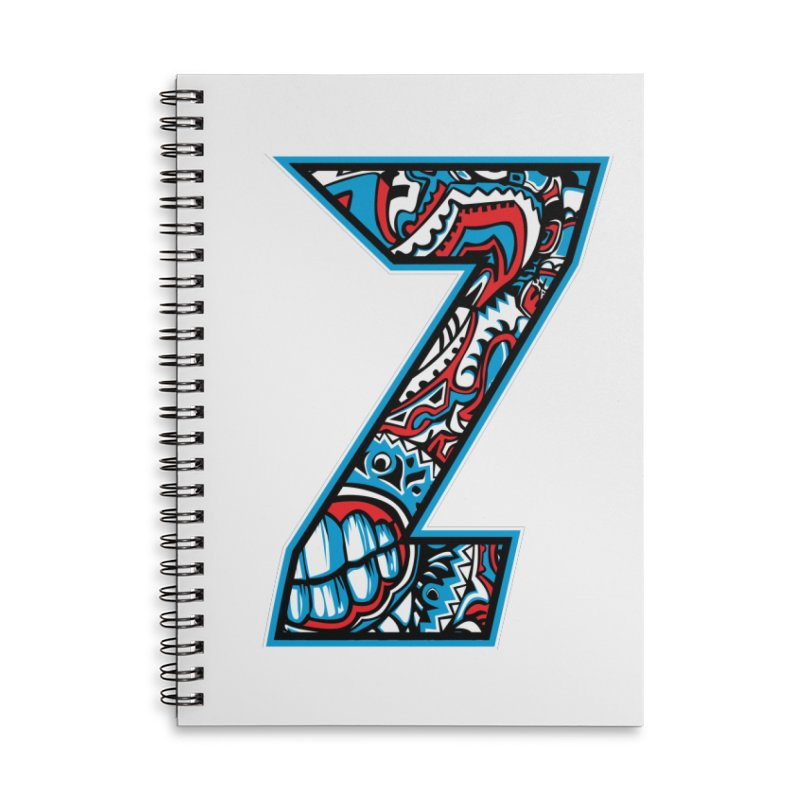 Crazy Face_Z001 Accessories Lined Spiral Notebook by Art of Yaky Artist Shop