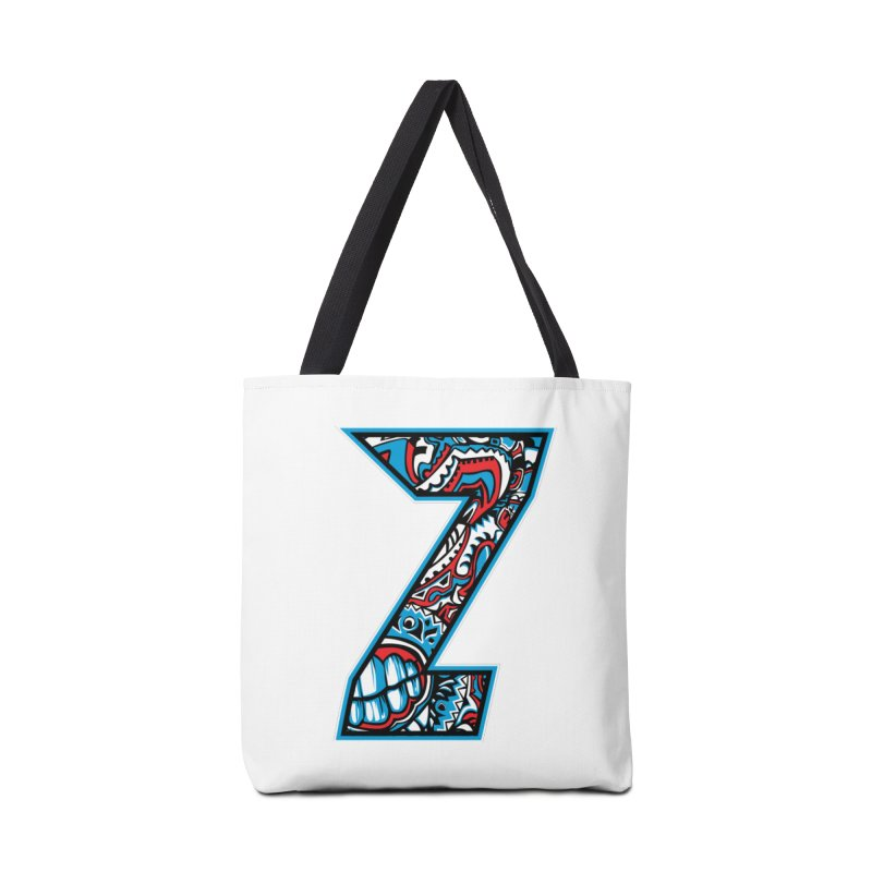 Crazy Face_Z001 Accessories Bag by Art of Yaky Artist Shop